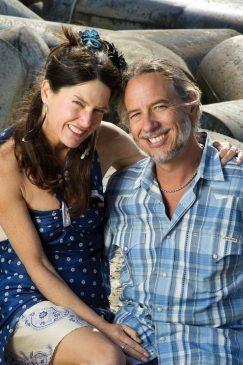 Janet and Ed at Seabright Beach - Santa Cruz